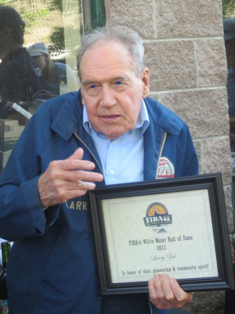 Larry Zuk inducted into the FIBArk White Water Hall of Fame in 2013